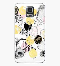 Funda/vinilo para Samsung Galaxy Amalia - gold foil black and white rosequartz texture ink painting art
