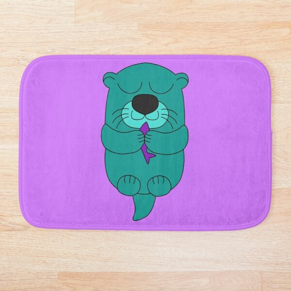 Lottie la loutre version verte Tapis de bain