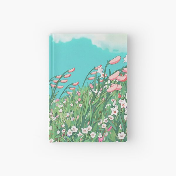 Anime Flowers in the river Scenery Hardcover Journal