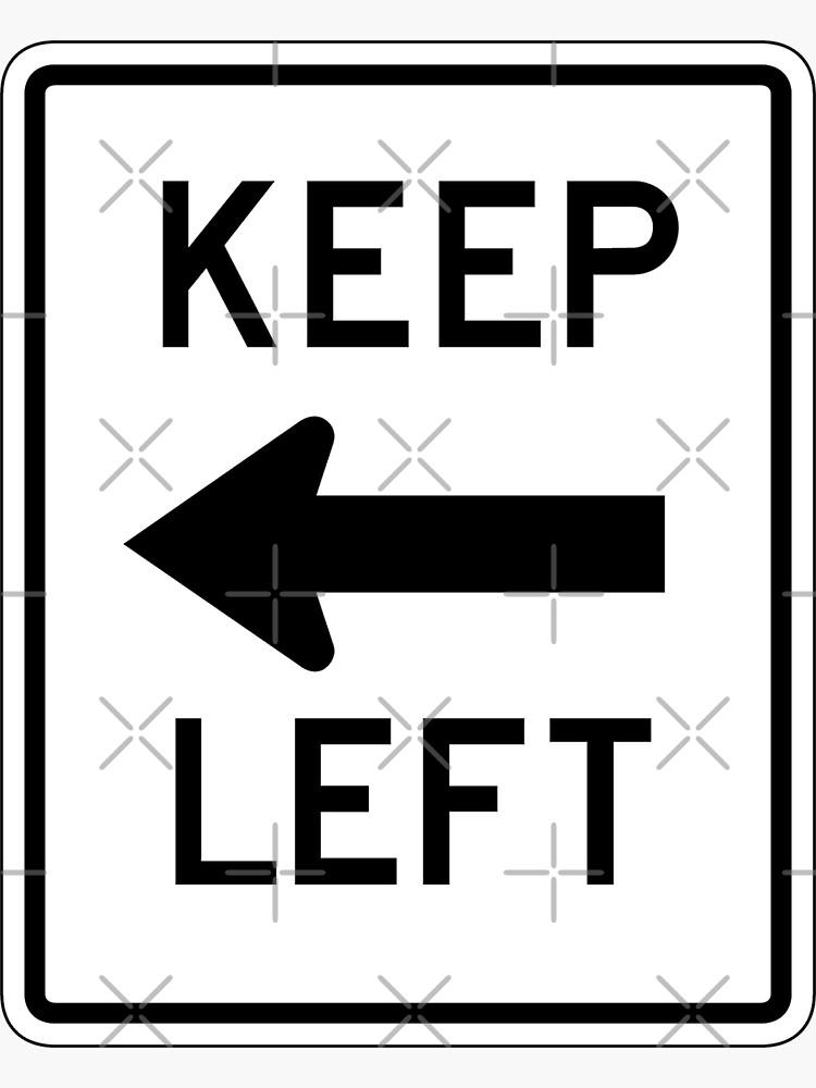 Halten Sie links Zeichen, USA von worldofsigns