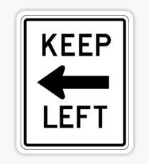 Keep Left Sign, USA Sticker