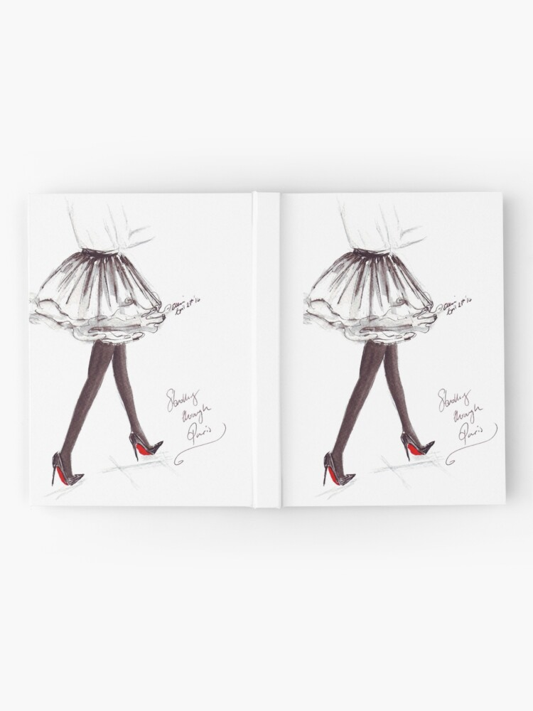 Alternate view of Watercolour & Ink Fashion Illustration Titled Walking in Louboutins Hardcover Journal