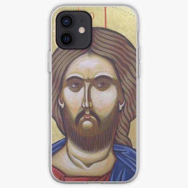 Byzantine icon of Jesus Christ iPhone Soft Case
