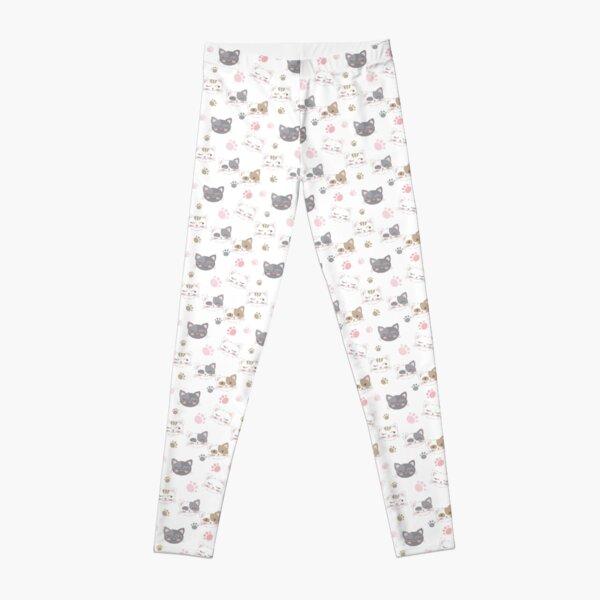Cute cat pattern, kitty design ideas Leggings