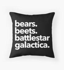 Bären. Rüben. Battlestar Galactica. (Weiße Variante) Dekokissen