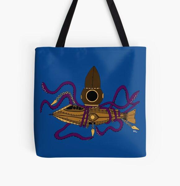 Nautilus Steampunk Bolsa estampada de tela