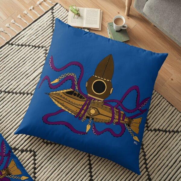 Nautilus Steampunk Cojines de suelo