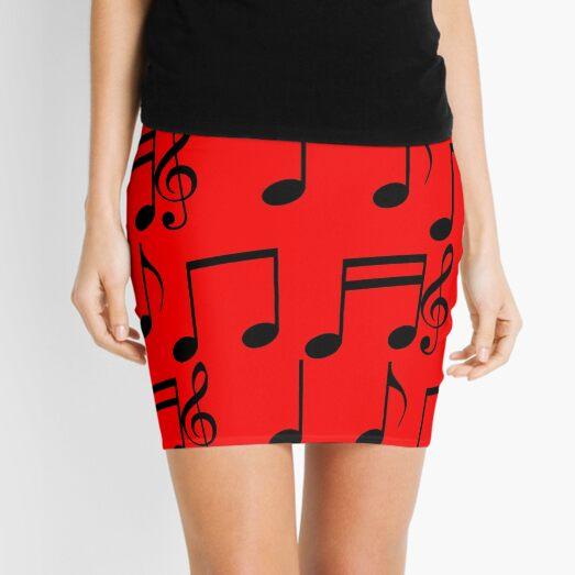 music notes music Mini Skirt