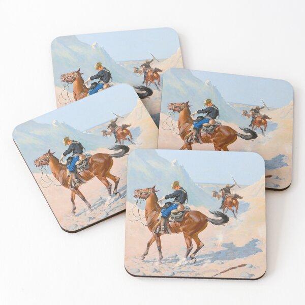 Frederic Remington - The Advance-Guard, or The Military Sacrifice (The Ambush) 1890 Coasters (Set of 4)