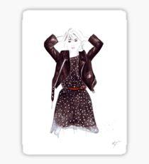 Polka Dot Dress Sticker