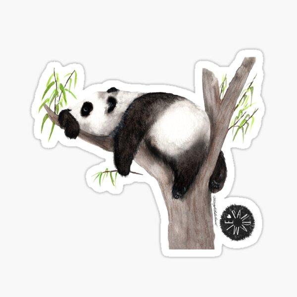 Pandaemia of joy, panda sleeps contentedly Sticker