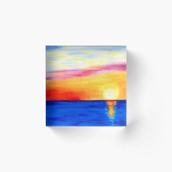 Sunset Reflection Acrylic Block