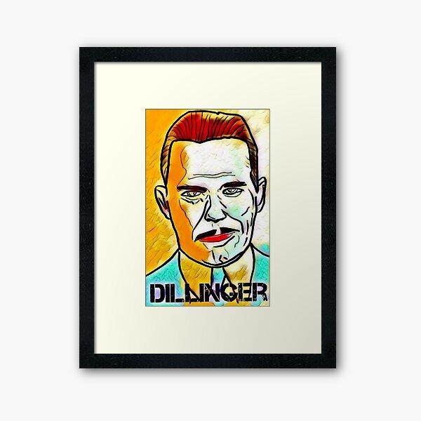 Dillinger - Artwork by Riz Framed Art Print