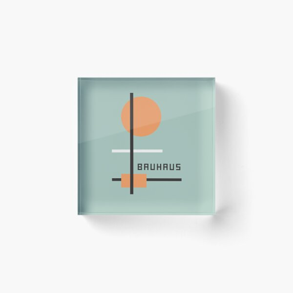 Bauhaus #27 Acrylic Block