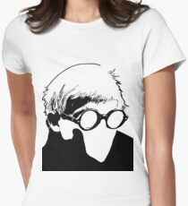 Hockney - vacant expression Womens Fitted T-Shirt