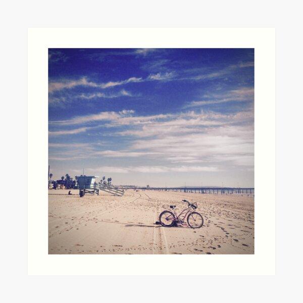 Fahrrad am Strand von Venice Beach, Kalifornien  Kunstdruck