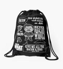 Ron Swanson Montage  Drawstring Bag