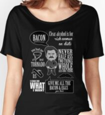 Ron Swanson Montage  Women's Relaxed Fit T-Shirt