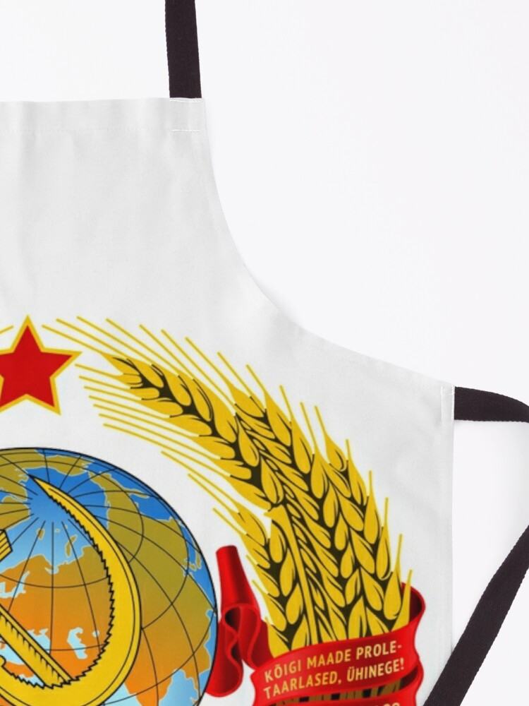 Alternate view of History of the Soviet Union (1927–1953) State Emblem of the Soviet Union Apron