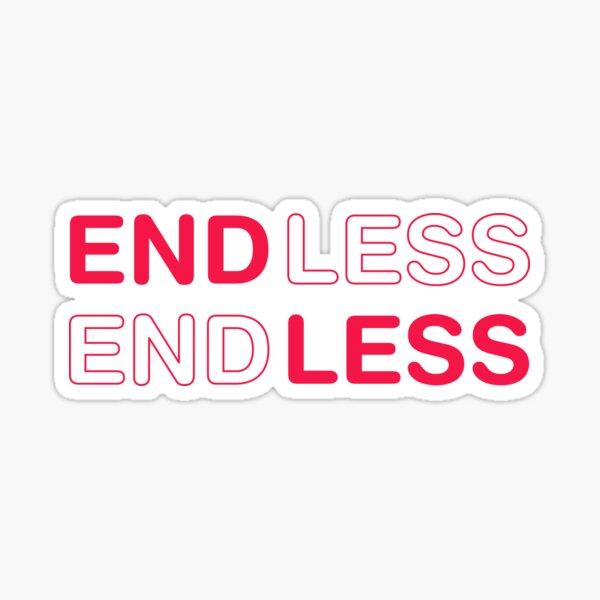 ENDLESS love movie. Pink. Sticker