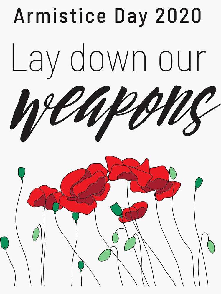 Lay down our weapons | War No More by JPOutiffters