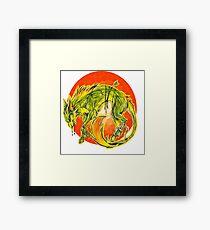 Tarot Wolf Framed Print