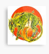 Tarot Wolf Metal Print