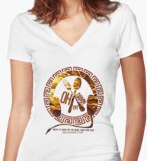 Oh Damn Entertainment Merchandise Women's Fitted V-Neck T-Shirt