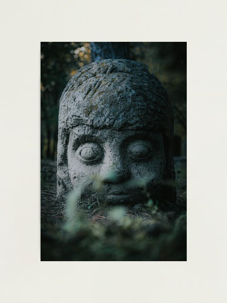 Alternate view of Stone Head  Photographic Print