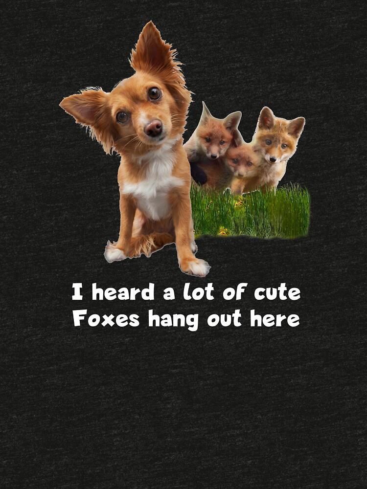 Cute Fox Terrier Party Shirt (dark apparel) by mikepil