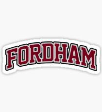 Fordham University Marroon Lettering Sticker