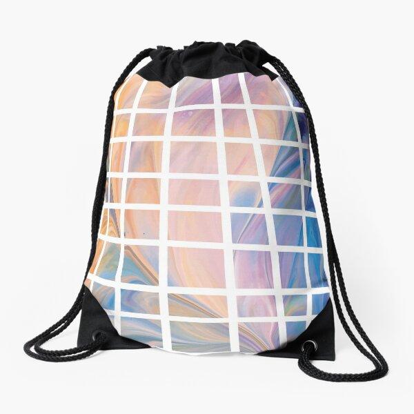 fluid art squares Drawstring Bag