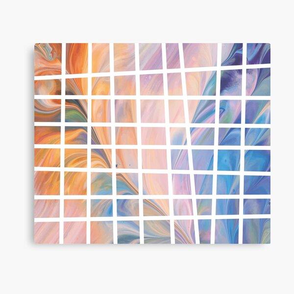 fluid art squares Metal Print