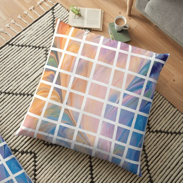 fluid art squares Floor Pillow