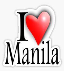 I LOVE, MANILA, Filipino, Maynilà, Philippines Sticker