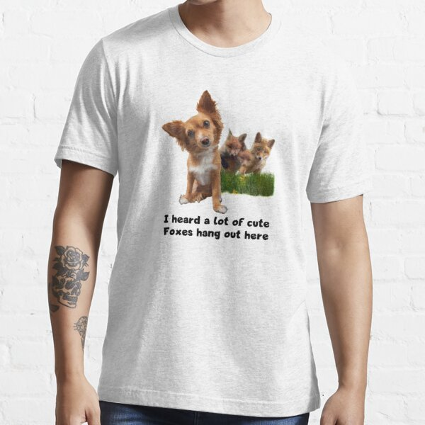 Cute Fox Terrier Party Shirt (light apparel) Essential T-Shirt