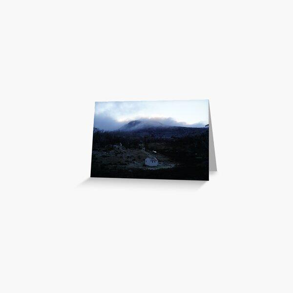 First Light Over Derschke's Hut At Mt Jagungal Greeting Card