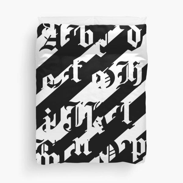 Alphabet Graffiti Duvet Cover