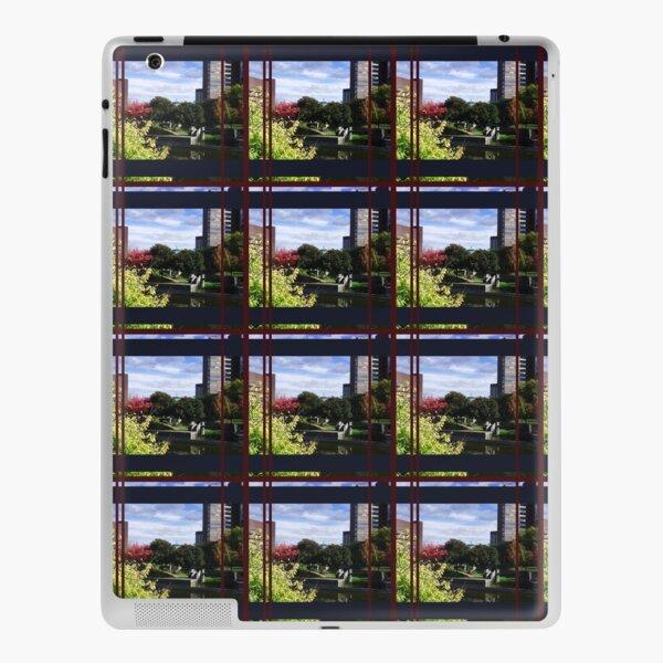 City Pattern, Layered Geometric Pattern, Landscape Photography by Courtney Hatcher iPad Skin