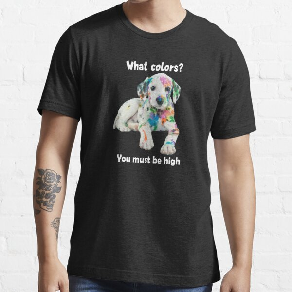 Technicolor Puppy Party Shirt (dark apparel) Essential T-Shirt