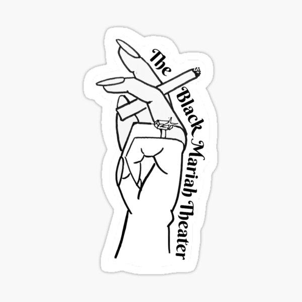 Cigarette Hand Logo Sticker