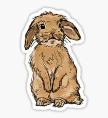 Rabbit without Banner Sticker