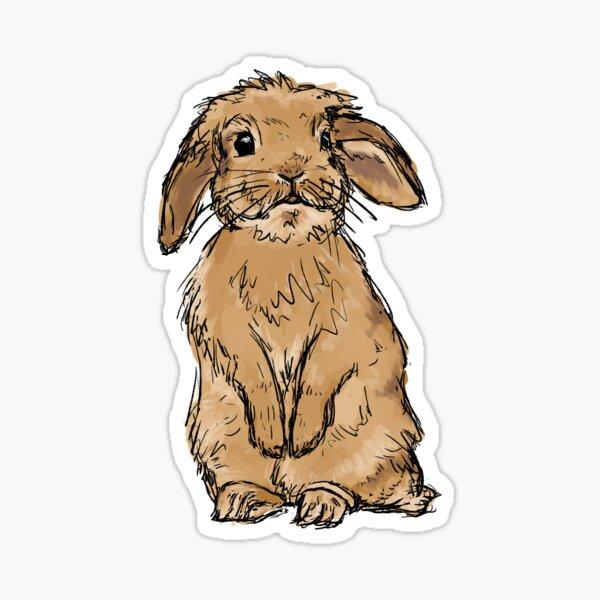 Conejo sin estandarte Pegatina