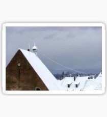 First snow in small french village, season specific Sticker