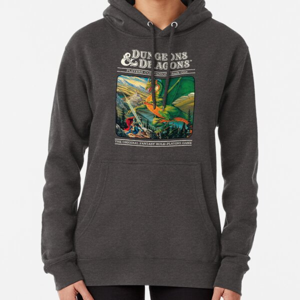 Retro Dungeons And Dragons Cover Pullover Hoodie
