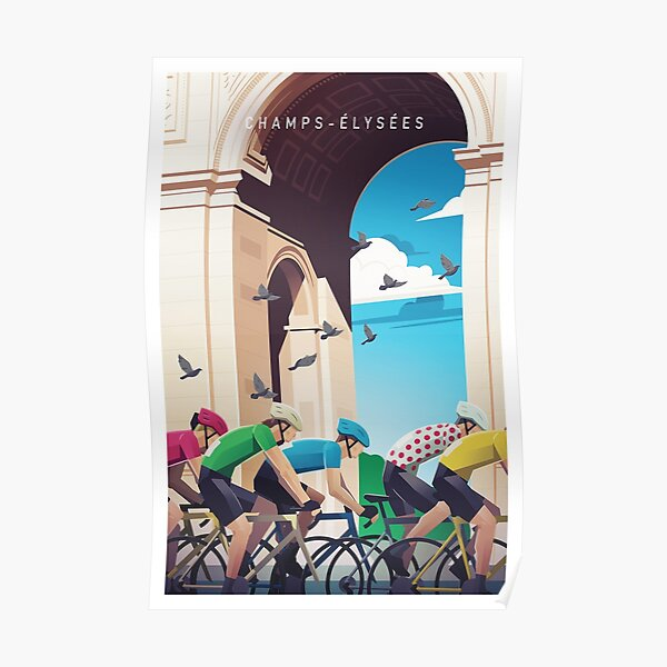 Champs-Élysées - Tour de France Poster