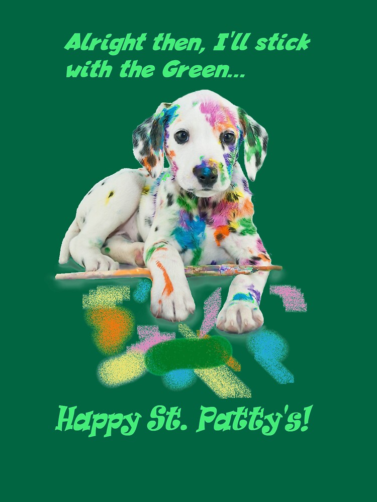 St. Patty's Technicolor Puppy Bar Shirt by mikepil