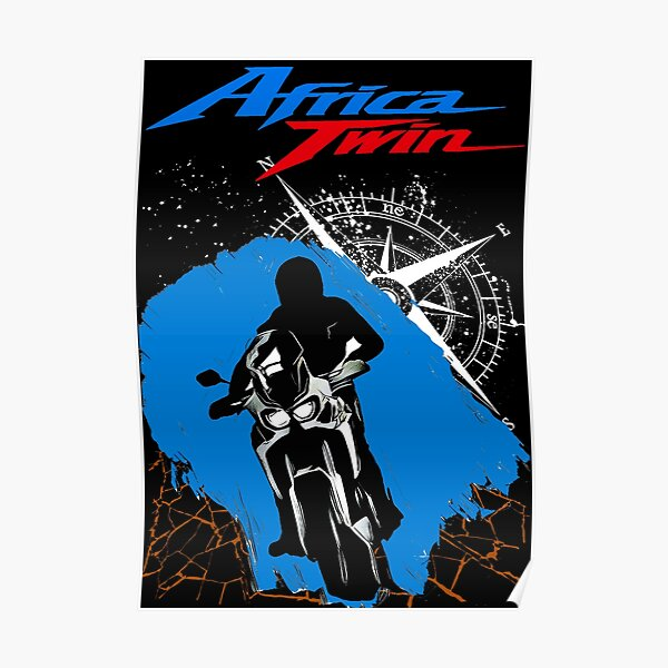 Honda Africa Twin CRF1000l  Poster