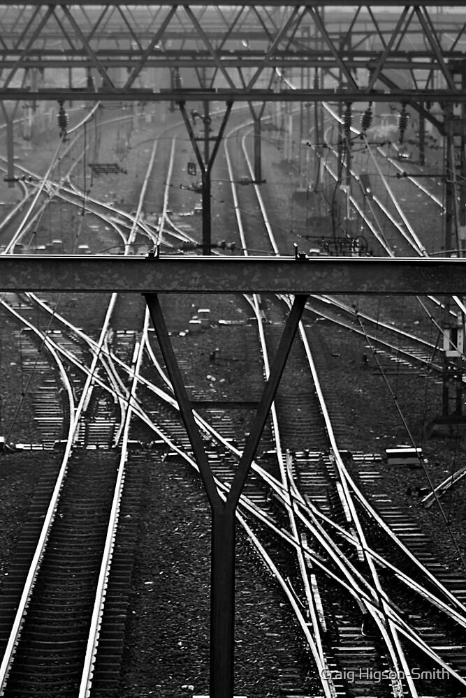 Railway at dawn by Craig Higson-Smith