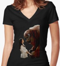 Ludo and Sarah - Labyrinth - Painting Women's Fitted V-Neck T-Shirt